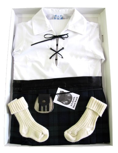New Baby Black Watch Full Kilt Outfit 0 - 6 months