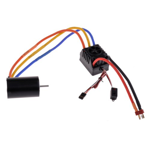 Neewer® 550/3T 4300Kv Sensorless Brushless Motor And 120A Sensored Speed Controller Esc For 1/10 Rc On-Road / Off-Road Car