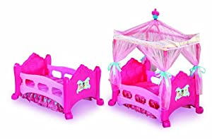 Disney Princess 3-in-1 Dream Canopy Bed - Convertible Doll Bed