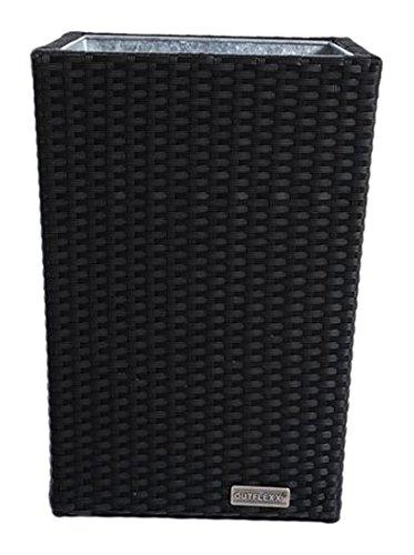 Outflexx Blumentopf / Vase Polyrattan mittelgroße w1, schwarz jetzt bestellen
