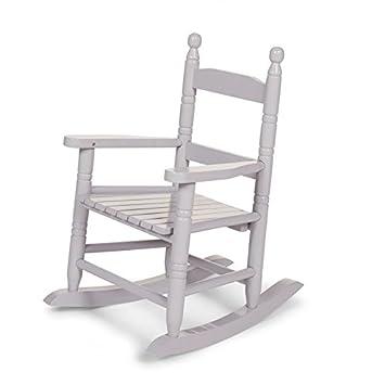 rocking chair enfant enfant stone grey b b s pu riculture z348. Black Bedroom Furniture Sets. Home Design Ideas