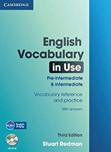 English Vocabulary in Use: Pre-intermediate and Intermediate with Answers and CD-ROM (Face2face)