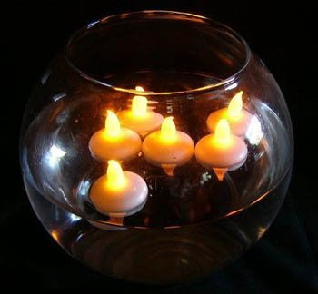 12Pcs Waterproof Christmas Floating Flameless Led Tealight Tea Candles Light Wedding Birthday Party Decoration Battery Operated