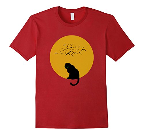 Black Cat Bats and Moon Tee Available in Men Women and Kids Sizes