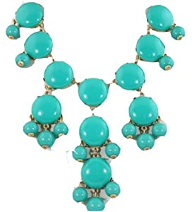 Big turquoise smooth Bubble Necklace, Green Necklace, Statement Necklace(WP-F229)