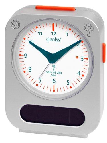 Quantys QY100/1 Solar-Funkwecker, silber/weiß