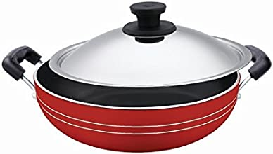 Pigeon Induction Base Non-Stick Kadai-200 IB with Lid/Dia 200mm