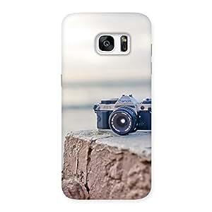 Impressive Camera on Rock Multicolor Back Case Cover for Galaxy S7 Edge