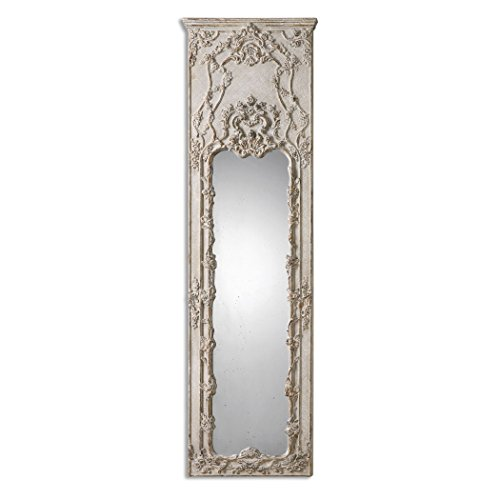 Tall Victorian Ornate Ivory Mirror | Oversize Wall, Floor or Leaner 1
