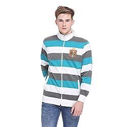 EX10SIVE Men's Multi Coloured Striped Sweatshirt