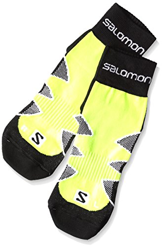 Salomon CityTrail, Calzino Running Unisex, Nero (fluo yellow/black/white), 36-38 / S