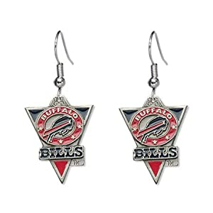 Buffalo Bills Dangle Earrings - NFL Football Fan Shop Sports Team Merchandise