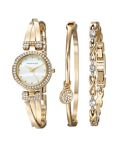 anne-klein-womens-ak-1868gbst-swarovski-crystal-accented-gold-tone-bangle-watch-and-bracelet-set
