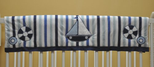 Little Sailor Blue Crib Rail Protector - 1