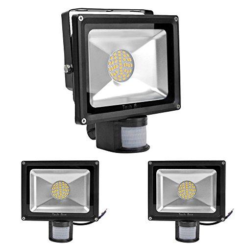 3X 30W Warm White Floodlight Smd Led Spotlight Garden Lamp With Motion Sensor
