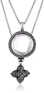 Lucky Brand Silver-Tone Double Pendant Necklace, 16""