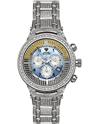 Aqua Master Men's Power Canary Diamond Watch with Diamond Bezel and 12-Link Diamond Bracelet, 8.25 ctw