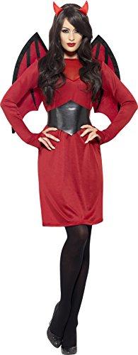 Smiffy's 43730M - Economia Devil Costume Rosso con Abito da Ali Belt & Horns, M