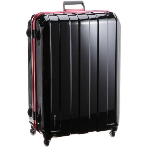 [ヒデオワカマツ] HIDEO WAKAMATSU マスキュラーレッドフレーム ポリカーボネート製TSAロックスーツケース Lサイズ(72.5cm)  85-75211 ブラック (ブラック)
