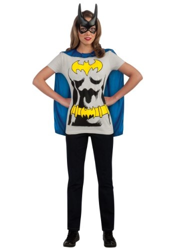 Rubie's Costume Co Women's Dc Comics Batgirl T-Shirt With Cape And Mask from Rubie's Costume Co