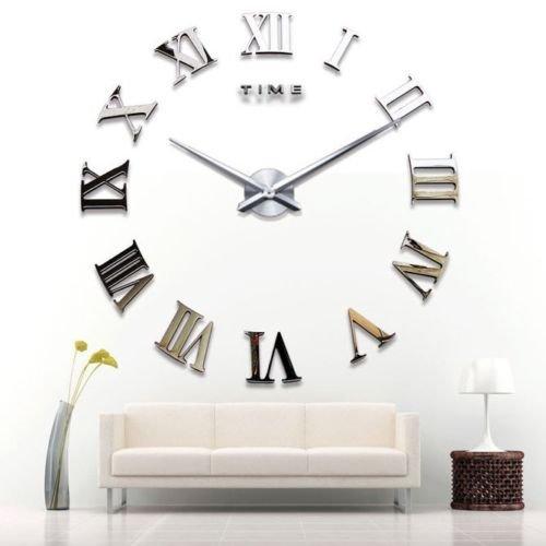 Yosoo-DIY-Riesen-Wanduhr-Acryl-3D-Spiegel-Oberflchen-Aufkleber-Wandtattoo-Wohnzimmer-Dekoration-Uhr-Zimmerdeko-Einzigartiges-Geschenk-Silber