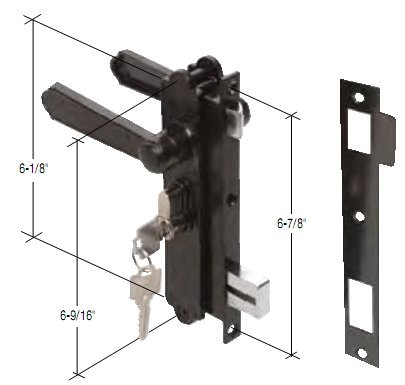 Screen and Storm Security Door Mortise Lock for