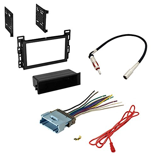 CAR STEREO RADIO CD PLAYER RECEIVER INSTALL MOUNTING KIT RADIO ANTENNA CHEVROLET PONTIAC 2004 2005 2006 2007 2008 2009 (2006 Chevy Malibu Radio Harness compare prices)