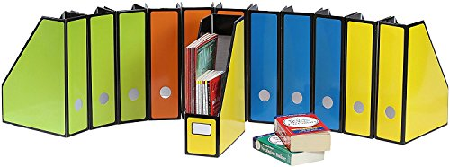 12 Pack - SimpleHouseware Premium Document File Magazine Holder Organizer, 4 Colors