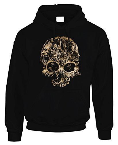 Felpa con cappuccio the Walking Dead Zombie Skull virus apocalisse - in cotone by Fashwork