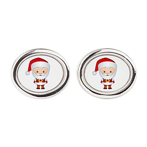 Cufflinks (Oval) Christmas Cuties Santa Claus