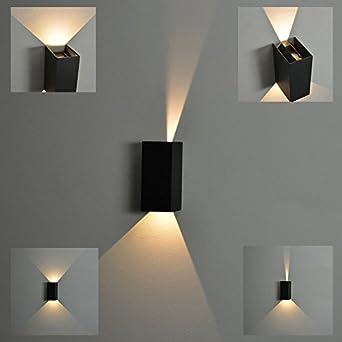 licht trend led wandlampe ip54 winkel verstellbar 2x3w anthrazit db981. Black Bedroom Furniture Sets. Home Design Ideas