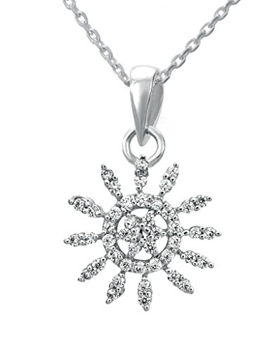 Clara Clara Sterling Silver Swarovski Studded The Blanca Pendant For Women