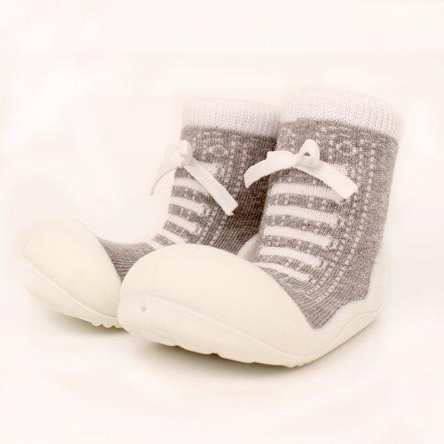 ベビーシューズ Baby feet ベビーフィート ラバー底ソックス SNEAKERS ( 12.5cm , スニーカー Gray グレー )