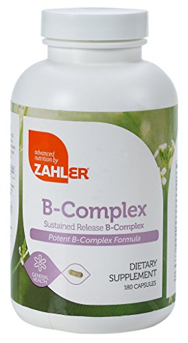 Zahler B Complex, All Natural Supplement Supporting Energy Production, #1 Pure and Potent B Complex Formula Containing all 8 Essential B Vitamins, Certified Kosher, 180 Capsules
