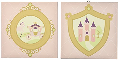 Kids Line Rapunzel Canvas Wall Art, 2 Piece, Pink (Discontinued by Manufacturer)