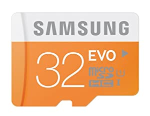 Samsung 32GB EVO Class 10 Micro SDHC up to 48MB/s  with Adapter (MB-MP32DA/AM)