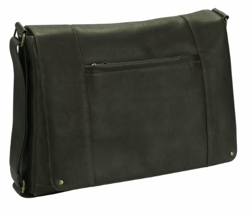 SOLO Vintage Collection Laptop Messenger Bag, Holds Notebook Computer up to 16 Inches, in Columbian Leather, Espresso, VTA502-3