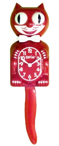 The Original Kit Cat Klock - Limited Edition Rose Float Red Clock