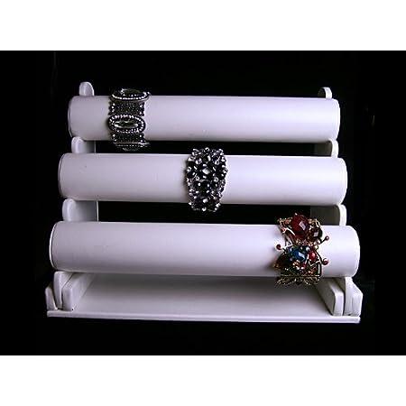 3 Tier White PU 3 Tier Bracelet Display Stand