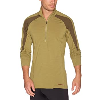 Patagonia M'S Merino 2 LW Zipne Sous-vêtement thermique homme Tuscan Olive S