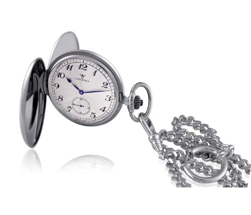 Catorex Men's 182.1.1678.420 Armand Cattin Automatic Stainless Steel Sunray Sub-seconds Pocket Watch