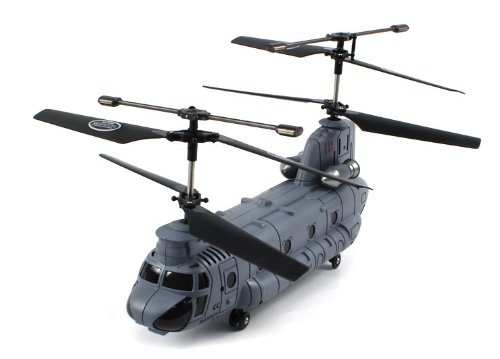 RECHARGEABLE GYROSCOPE Electric Full Function 2.4GHz 3CH GYRO SYMA S34 Chinook RTF RC Helicopter (Colors May Vary)