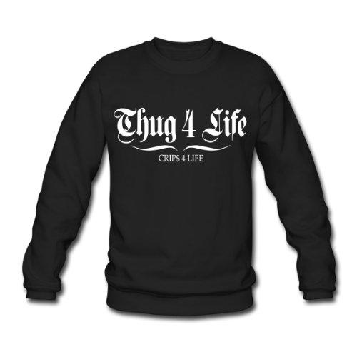 Spreadshirt, thug 4 life crips 4 life, Men's Sweatshirt, black, XXL