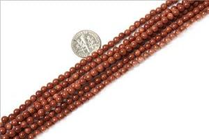 4mm round gemstone gold Aventurine beads strand 15