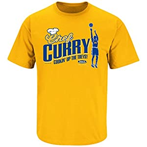 Golden State Warriors Fans. Chef Curry Gold T Shirt (Sm-5X)
