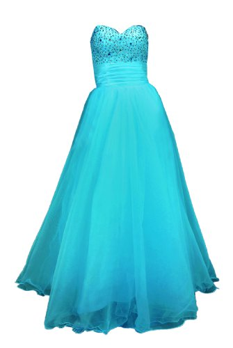 Moonar Chiffon Strapless Sweetheart Paillette A Line Prom Formal Gown Party Bridesmaid Wedding Dress