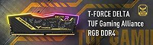 TEAMGROUP T-Force Delta TUF DDR4 16GB (2x8GB) 3200MHz (PC4-25600) CL16 Desktop Memory Module ram - TF9D416G3200HC16CDC01 - (TUF Alliance RGB Module) (Color: TUF, Tamaño: 3200MHz)