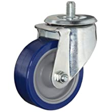 E.R. Wagner Americaster Stem Caster, Swivel, Dust Cover, Polyurethane on Polyolefin Wheel