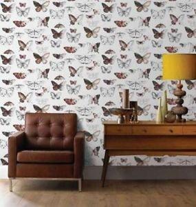 Fresco Butterflies Wallpaper - Orange from New A-Brend