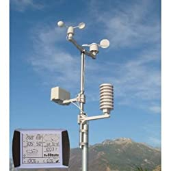 PROWLER (TM) Professional Weather Station with indoor outdoor temperature wind speed wind direction rainfall rain gage